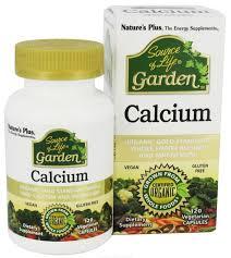 Nature's Plus <b>Source of Life</b> Garden <b>Calcium</b>, 1000mg, 120 VCapsules