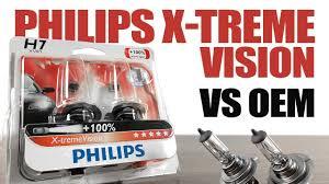 <b>Philips</b> XtremeVision <b>100</b>% vs OEM / <b>Original</b> Headlight Bulbs ...