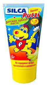 Зубная паста <b>SILCA</b> Putzi Банан 1-6 лет — <b>Гигиена полости рта</b> ...