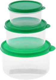 """<b>Набор пищевых контейнеров</b> """"Доляна"""", круглые, цвет: зеленый ..."""