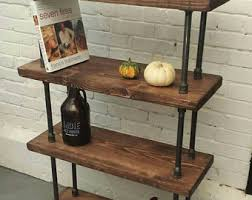 rustic industrial pipe and wood bookcase rustic industrial steel wood bookcase pipe wood furniture industrial chic shelves bookshelf chic industrial furniture