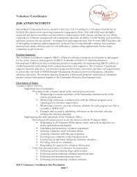 cover letter example volunteer coordinator template cover letter example volunteer coordinator