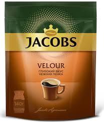 <b>Jacobs Velour кофе растворимый</b>, 140 г (пакет) — купить в ...