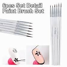 <b>6PCS</b> Detail <b>Paint Brush Set</b> Miniature Art Brushes for Fine Detailing ...