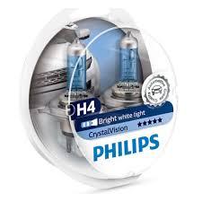 <b>Лампа</b> галогенная <b>PHILIPS</b> H4 <b>Crystal</b> Vision 4300K 12V 60/55W + ...