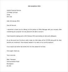 acceptance letter template –    free word  pdf documents download    job acceptance letter format word download
