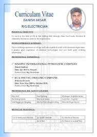 danish cv electriciandanish aksar rig electrician personal objective to excel in the field of oil  amp  gas drilling