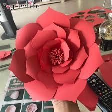 JOY ENLIFE 2pcs 20cm <b>DIY Paper</b> Flowers Backdrop Decor Hen ...