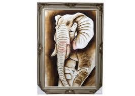 Restaurant / Coffee Bar <b>handmade</b> animal <b>oil painting</b> for <b>elephant</b> ...