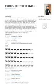 architectural intern resume samples   visualcv resume samples databasearchitectural intern resume samples