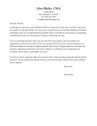 medical assistant cover letter medical assistant cover letter for best healthcare cover letter examples livecareer for health care cover letter