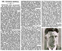 orwell 1984 the importance of orwell sikh archives the obituary of george orwell