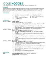 best assistant teacher resume example livecareer create my resume