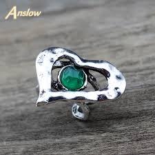 <b>Anslow</b> 2019 <b>New Designer</b> Retro Vintage <b>Trendy</b> Jewelry Heart ...