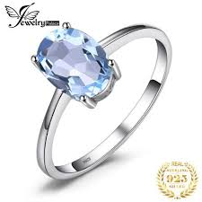 <b>JewelryPalace Oval 1.5ct Natural</b> Sky Blue Topaz Birthstone ...