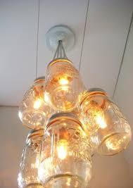 mason jar chandelier light open diy vintage mason jar chandelier