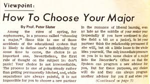 from the archives how to choose your major the clerk 19700220 ocr