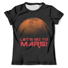 Футболка с полной запечаткой (мужская) Let's go to <b>Mars</b> ...
