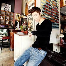 Knitwear Sweater, <b>Men's</b> Pullover Sweater <b>Pointed</b> Collar Slim ...