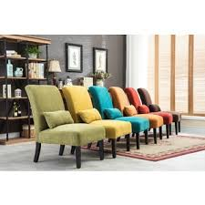 pisano chenille fabric armless contemporary accent chair with matching kidney pillow chairs living room