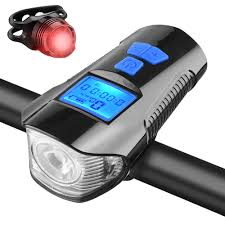 LED <b>Bike Light USB</b> Bicycle Speedometer Cycling Rechargeable ...