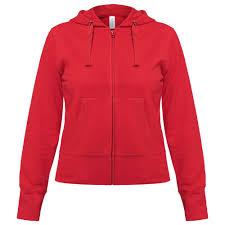 <b>Толстовка</b> женская <b>Hooded</b> Full Zip <b>красная</b>, <b>размер</b> M - Одежда ...