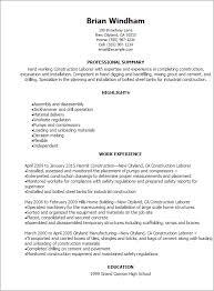 professional construction laborer resume templates to showcase    resume templates  construction laborer resume