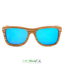 GloFX <b>Zebra Wood Sunglasses</b> - <b>Polarized</b> Blue Mirror - GloFX.com