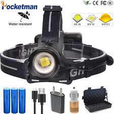 Brightest <b>100W XHP70</b>.2 Powerful Led Headlamp lantern Head light ...