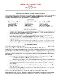 free sample resume of human resources training  amp  development   pdf    sample resume of human resources training  amp  development