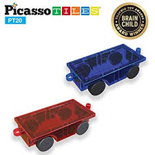 Amazon.com: PicassoTiles 2 Piece <b>Car Truck</b> Set w/ Extra Long Bed ...
