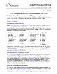 job opportunities for young people in natural resource management