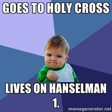 Goes to Holy Cross Lives on Hanselman 1. - Success Kid   Meme ... via Relatably.com