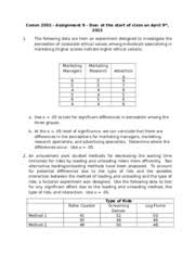 Assignment     Solutions doc   Comm        Assignment     Due  at       pages Assignment   doc