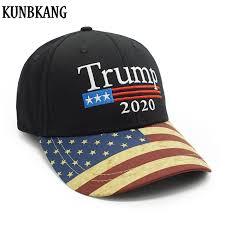 New Vintage Trump 2020 Hat <b>USA Flag Baseball Cap</b> Men Women ...