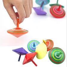 Amazon.com: <b>6 Pcs</b> Set of Handmade Painted <b>Wood</b> Spinning Tops ...