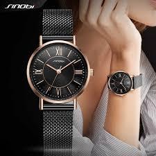 SINOBI Simple Women's <b>Wrist Watches</b> Gold Watchband Top ...