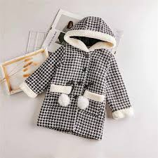 2019 New <b>Winter Jackets</b> For Girls Plaid <b>Thick Woolen Coats</b> For ...