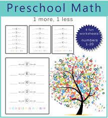 Preschool Math - 1 more, 1 less - One Beautiful HomePreschool math one more one less