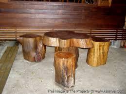 stools made from tree barks bark furniture