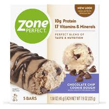 ZonePerfect <b>Protein Bars</b>, <b>Chocolate</b> Chip Cookie Dough, 10g of ...