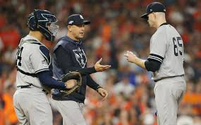 ALCS Game <b>2</b>: Yankees have quick hook for <b>James</b> Paxton