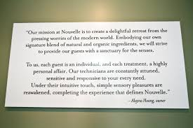 mission statement nouvelle nail spa mission statement