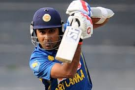 Mahela Jayawardene struck his 17th ODI century to guide Sri Lanka to 242 in the third one-day international against India on a hard Rajiv Gandhi International Stadium surface in Hyderabad on an overcast Sunday.