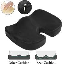 100% <b>Memory Foam</b> Seat Cushion <b>Coccyx Orthopedic</b> Pillow ...