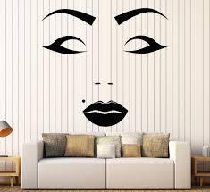 Beautiful Female Face <b>Vinyl Wall Stickers Beauty</b> Spot Salon ...