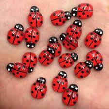 60pcs <b>Resin</b> Cute Colorful Beautiful Red Beetle Flat Back ...