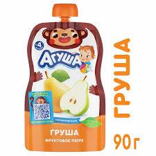 <b>Пюре Агуша</b> Груша <b>Дой</b>-пак 90 гр