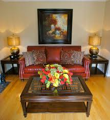 transitional living room leather