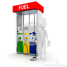 3d man holding a fuel pump, on white background. MR: NO; PR: NO - 3d-man-holding-fuel-pump-27653637